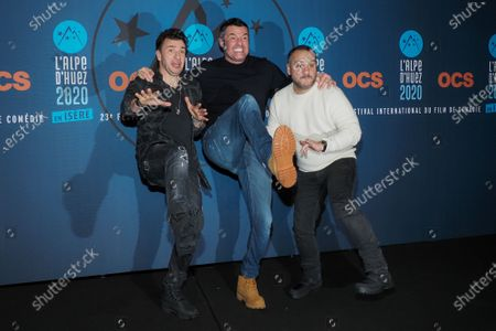 Michael Youn, Arnaud Ducret and Francois-Xavier Demaison attend the 'Divorce club' screening