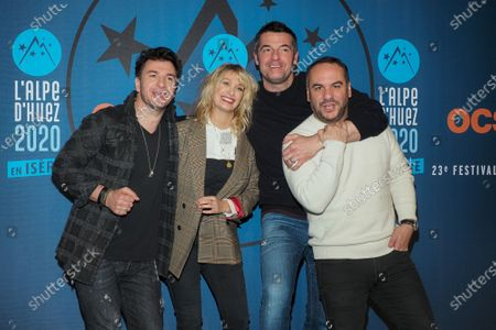 Michael Youn, Caroline Anglade, Arnaud Ducret and Francois-Xavier Demaison attend the 'Divorce club' screening