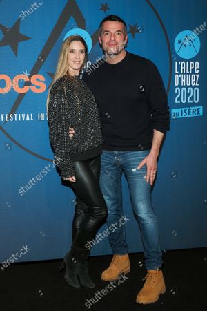 Arnaud Ducret and Claire Francisci attend the 'Divorce club' screening
