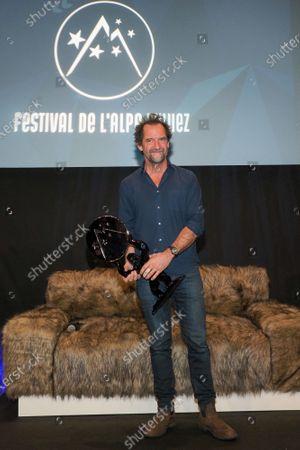 Stephane De Groodt receiving best actor award for the movie 'Tout nous sourit'