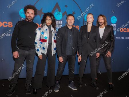 Nicolas Benamou, Sabrina Ouazani, Jose Garcia, Chloe Jouannet and Bob Sinclar attending 'Miss' photocall before the closing ceremony and screening