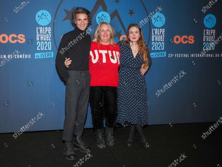 Norman Damidot, Valerie Damidot and Roxanne Damidot attending 'Miss' photocall before the closing ceremony and screening