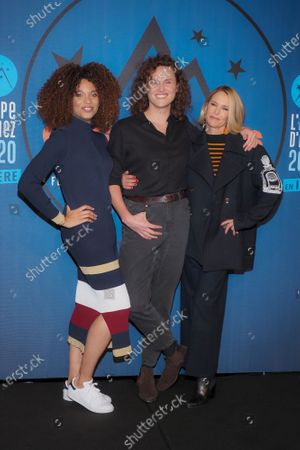 Stefi Celma, Alexandre Wetter and Pascale Arbillot attending 'Miss' photocall before the closing ceremony and screening