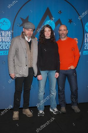Clovis Cornillac, Lila Gueneau-Lefas and Pierre core attending 'Miss' photocall before the closing ceremony and screening