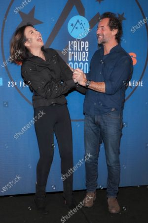 Elsa Zylberstein and Stephane De Groodt attending 'Miss' photocall before the closing ceremony and screening