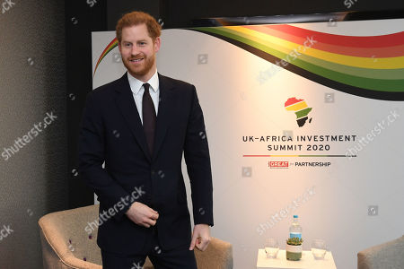 Prince Harry meets Saadeddine Othmani, Prime Minister of Morocco at Intercontinental Hotel
