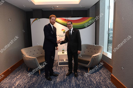Stock Photo of Prince Harry, meets Saadeddine Othmani, Prime Minister of Morocco at Intercontinental Hotel