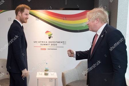 Prince Harry and Prime Minister Boris Johnson at the Intercontinental Hotel