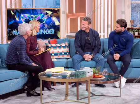 Phillip Schofield and Holly Willoughby with Teddy Sheringham and Kem Cetinay