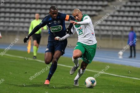 Editorial picture of Paris FC v AS St Etienne, French Cup football match, Stade Charlety, Paris. France - 18 Jan 2020