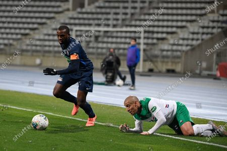 Editorial photo of Paris FC v AS St Etienne, French Cup football match, Stade Charlety, Paris. France - 18 Jan 2020