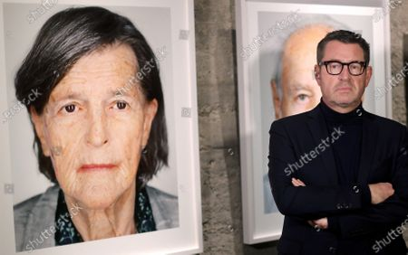 Chairman of the circle of friends of Yad Vashem in Germany, Kai Diekmann poses during the preview day of the exhibition 'Survivors' at Zollverein coking plant in Essen, Germany, 20 January 2020. Portrait photographer Martin Schoeller took pictures of 75 living contemporary witnesses of the Holocaust. The exhibition will be opened on 21 January by Chancellor Merkel.
