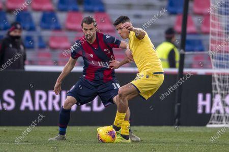 Andrea Poli (Bologna) and Matteo Pessina (Hellas Verona)