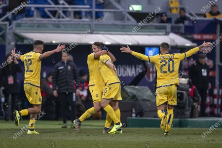Fabio Borini (Hellas Verona) celebrates after scoring his team's first goal