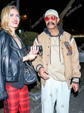 Katie Cherry and Dennis Graham at Delilah nightclub in West Hollywood