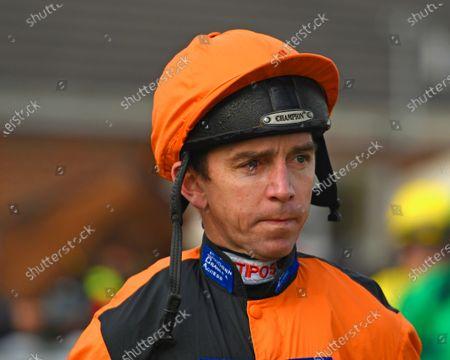 Jockey Leighton Aspell during Horse Racing at Plumpton Racecourse on 20th January 2020