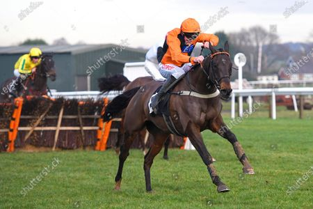 Winner of The Book For Easter Now Handicap Hurdle Mister Murchan ridden by Leighton Aspell and trained by Richard Rowe during Horse Racing at Plumpton Racecourse on 20th January 2020