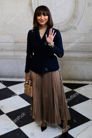 Actress, model and singer Kat Graham poses before Dior Haute Couture Spring/Summer 2020 fashion collection, Monday Jan.20, 2020 in Paris