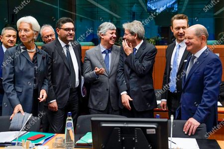 Editorial photo of Eurogroup finance ministers' meeting, Brussels, Belgium - 20 Jan 2020