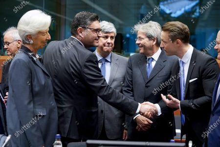 Editorial image of Eurogroup finance ministers' meeting, Brussels, Belgium - 20 Jan 2020