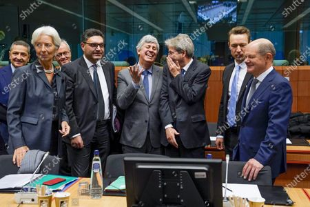 Editorial picture of Eurogroup finance ministers' meeting, Brussels, Belgium - 20 Jan 2020