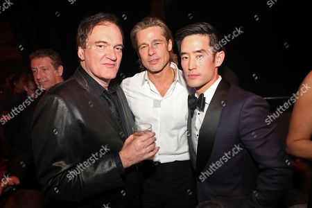Quentin Tarantino, Brad Pitt, Mike Moh. IMAGE DISTRIBUTED FOR PEOPLE MAGAZINE - Quentin Tarantino, from left, Brad Pitt, and Mike Moh attend the 2020 PEOPLE SAG Awards Afterparty at the Shrine Auditorium & Expo Hall, in Los Angeles
