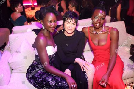 Stock Picture of Lupita Nyong'o, Danai Gurira. Lupita Nyong'o, left, and Danai Gurira, right attend the 2020 PEOPLE SAG Awards Afterparty at the Shrine Auditorium & Expo Hall, in Los Angeles