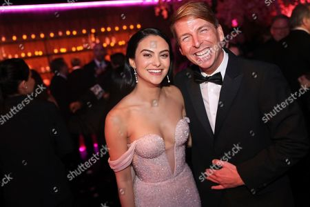 Camila Mendes, Jack McBrayer. Camila Mendes, left, and Jack McBrayer attend the 2020 PEOPLE SAG Awards Afterparty at the Shrine Auditorium & Expo Hall, in Los Angeles