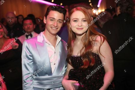 Stock Picture of Noah Schnapp, Sadie Sink. Noah Schnapp, left, and Sadie Sink attend the 2020 PEOPLE SAG Awards Afterparty at the Shrine Auditorium & Expo Hall, in Los Angeles