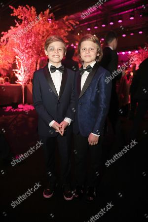 Stock Picture of Cameron Crovetti, Nicholas Crovetti. Cameron Crovetti, left, and Nicholas Crovetti attend the 2020 PEOPLE SAG Awards Afterparty at the Shrine Auditorium & Expo Hall, in Los Angeles