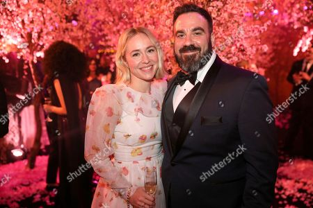 Stock Image of Sarah Goldberg and guest attend the 2020 PEOPLE SAG Awards Afterparty at the Shrine Auditorium & Expo Hall, in Los Angeles