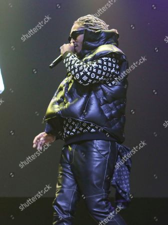 Stock Photo of Future, Nayvadius DeMun Wilburn. Future performs during the No Place Like Home Tour at the Coca-Cola Roxy, in Atlanta