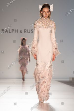 Models presents creations from the Spring/Summer 2020 Haute Couture collection of British designers Tamara Ralph and Michael Russo for their label Ralph and Russo during the Paris Fashion Week, in Paris, France, 20 January 2020. The presentation of the Haute Couture collections runs from 20 to 23 January.