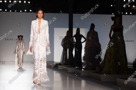 Models present creations from the Spring/Summer 2020 Haute Couture collection of British designers Tamara Ralph and Michael Russo for their label Ralph and Russo during the Paris Fashion Week, in Paris, France, 20 January 2020. The presentation of the Haute Couture collections runs from 20 to 23 January.