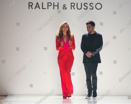Fashion designers Tamara Ralph (L) and Michael Russo (R) acknowledge the applause of the guests after presenting the Spring/Summer 2020 Haute Couture collection for their label Ralph and Russo during the Paris Fashion Week, in Paris, France, 20 January 2020. The presentation of the Haute Couture collections runs from 20 to 23 January.