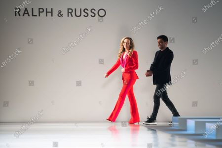Fashion designers Tamara Ralph (L) and Michael Russo (R) appear on the runway after presenting the Spring/Summer 2020 Haute Couture collection for their label Ralph and Russo during the Paris Fashion Week, in Paris, France, 20 January 2020. The presentation of the Haute Couture collections runs from 20 to 23 January.