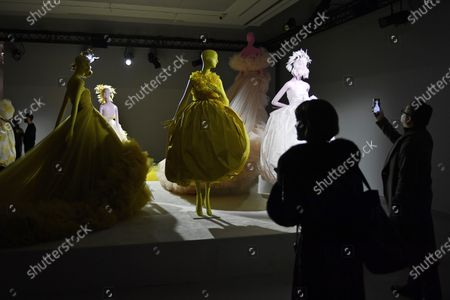 Stock Picture of Creations by Italian designer Giambattista Valli are on display during the Spring/Summer 2020 Haute Couture collection for the Giambattista Valli fashion house within the Paris Fashion Week, in Paris, France, 20 January 2020. The presentation of the Haute Couture collections runs from 20 to 23 January 2020.