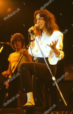Patti Smith on stage.