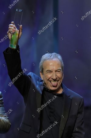 Stock Photo of Jose Luis Perales receives the Honorific award during the Odeon Music Awards gala at the Royal Theater in Madrid, Spain, 20 January 2020. The Odeon awards honor the best Spanish albums and singers of the previous year.