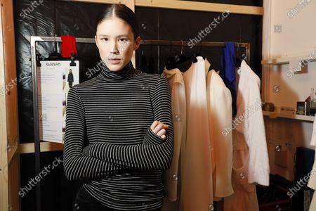 A model backstage