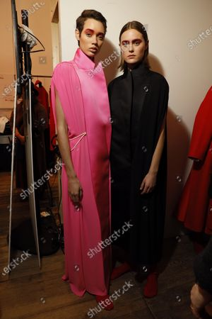 Stock Picture of Models backstage