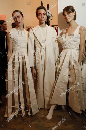Editorial picture of Maison Rabih Kayrouz show, Backstage, Spring Summer 2020, Haute Couture Fashion Week, Paris, France - 20 Jan 2020