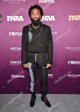 Kerby Jean-Raymond attends the 2019 Footwear News Achievement Awards at the IAC Building, in New York