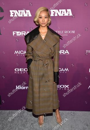 Vanessa Hong attends the 2019 Footwear News Achievement Awards at the IAC Building, in New York