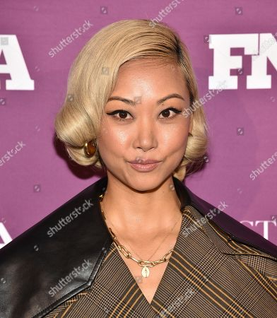 Stock Picture of Vanessa Hong attends the 2019 Footwear News Achievement Awards at the IAC Building, in New York