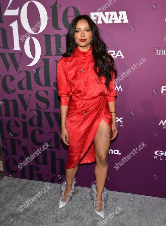 Kat Graham attends the 2019 Footwear News Achievement Awards at the IAC Building, in New York