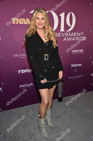 Christie Brinkley attends the 2019 Footwear News Achievement Awards at the IAC Building, in New York