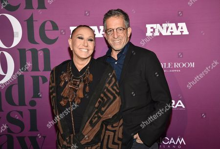 Donna Karan, Kenneth Cole. Designers Donna Karan, left, and Kenneth Cole attend the 2019 Footwear News Achievement Awards at the IAC Building, in New York