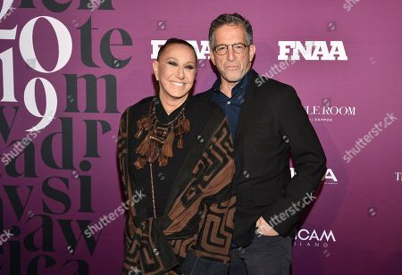Stock Image of Donna Karan, Kenneth Cole. Designers Donna Karan, left, and Kenneth Cole attend the 2019 Footwear News Achievement Awards at the IAC Building, in New York