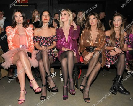 Stock Photo of Paola Turani, Claudia Lagona, Chiara Ferragni, Elisabetta Canalis and guest